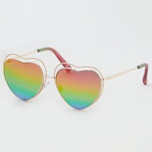 Rainbow heart glasses ♥️ 💜 🧡💛💚💙